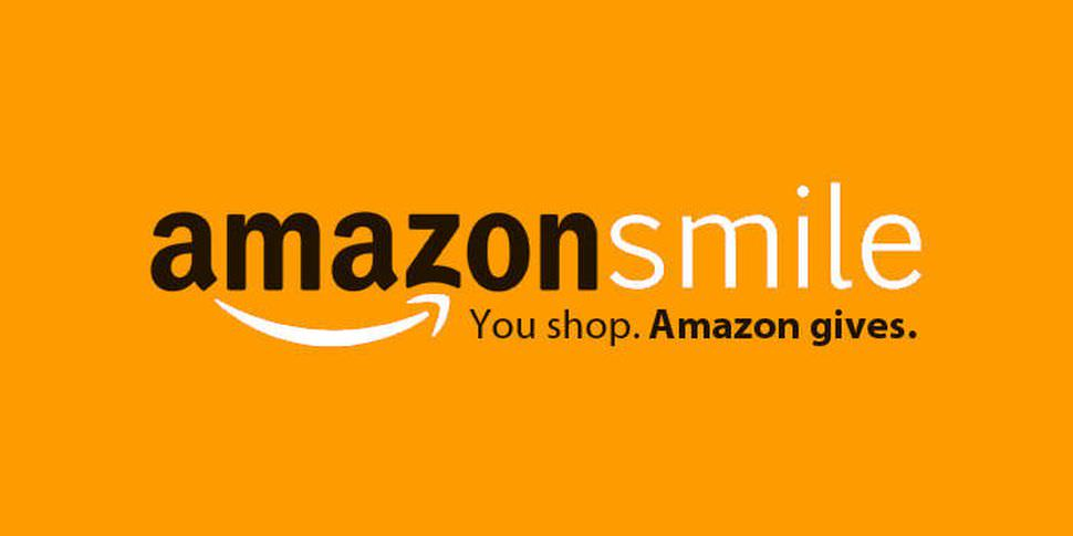 "Banner for Amazon Smile which reads ""Amazon Smile. You shop. Amazon gives."""